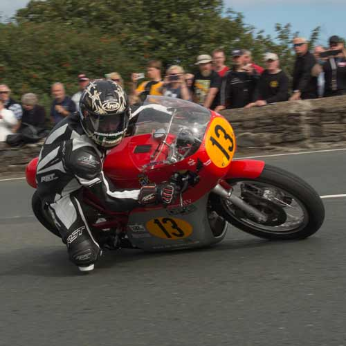 Lee Johnston , third placed in the 2015 Classic TT 500