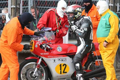 In the pit lane at the 2015 Classic TT 500