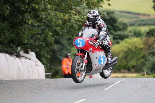Michael Dunlop riding in the Okells Classic TT